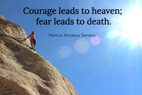 courage leads to heaven fear leads to death...