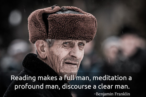 reading makes a full man meditation a profound man discourse a clear man...