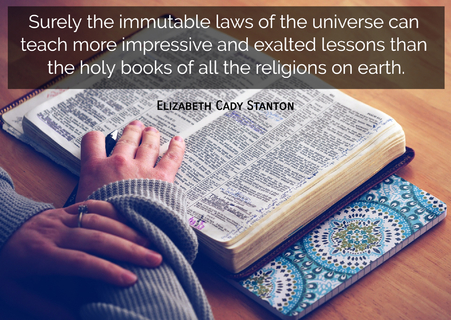 surely the immutable laws of the universe can teach more impressive and exalted lessons...