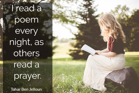 i read a poem every night as others read a prayer...