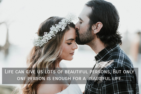 life can give us lots of beautiful persons but only one person is enough for a beautiful...