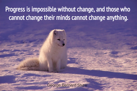 progress is impossible without change and those who cannot change their minds cannot...