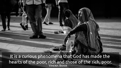 it is a curious phenomena that god has made the hearts of the poor rich and those of the...