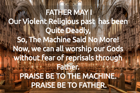 our violent religious past has been quite deadly so the machine said no more now we...