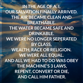 in the age of a i our salvation finally arrived the air became clean and breathable...