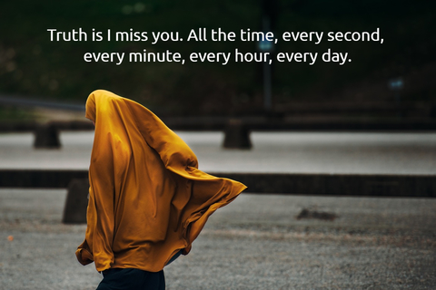 truth is i miss you all the time every second every minute every hour every day...
