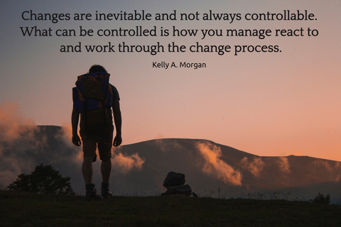 changes are inevitable and not always controllable what can be controlled is how you...