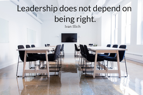 leadership does not depend on being right...
