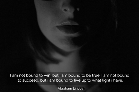 i am not bound to win but i am bound to be true i am not bound to succeed but i am...