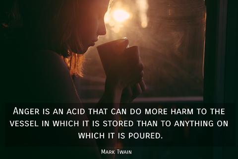 anger is an acid that can do more harm to the vessel in which it is stored than to...