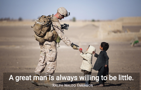 a great man is always willing to be little...