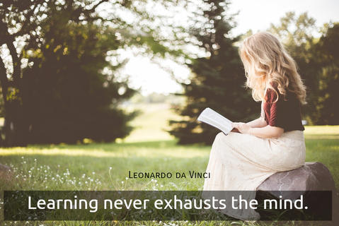 learning never exhausts the mind...
