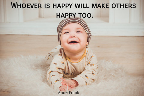 whoever is happy will make others happy too...