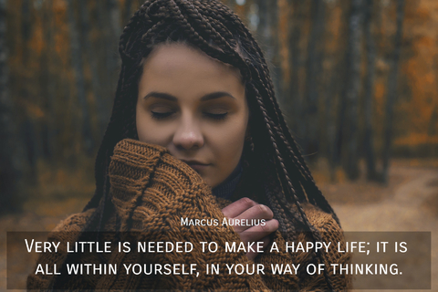 very little is needed to make a happy life it is all within yourself in your way of...