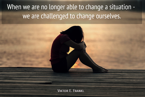 when we are no longer able to change a situation we are challenged to change ourselves...