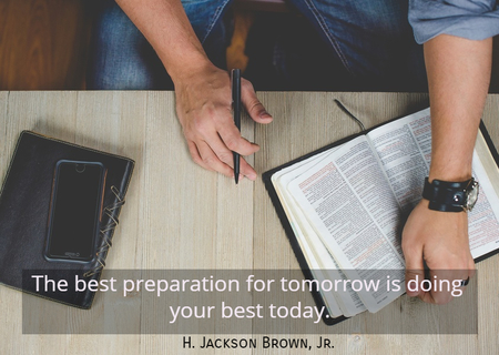 the best preparation for tomorrow is doing your best today...
