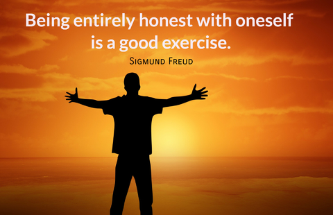being entirely honest with oneself is a good exercise...