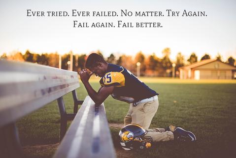 ever tried ever failed no matter try again fail again fail better...