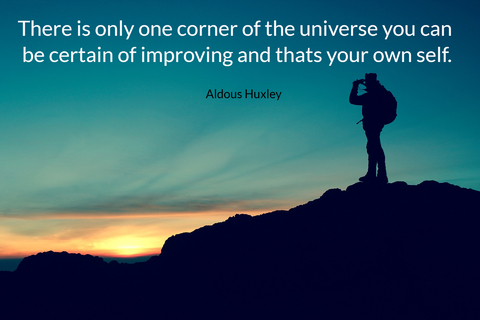 there is only one corner of the universe you can be certain of improving and thats your...