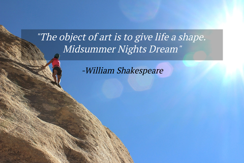 the object of art is to give life a shape midsummer nights dream...