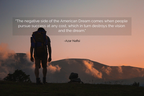 the negative side of the american dream comes when people pursue success at any cost...