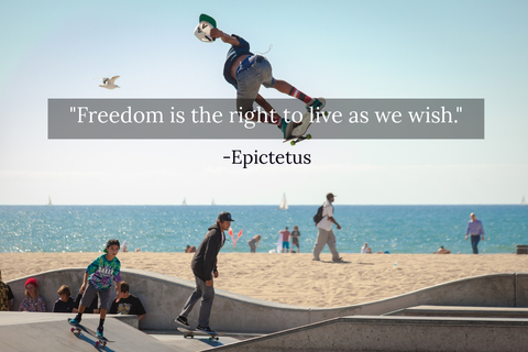 freedom is the right to live as we wish...