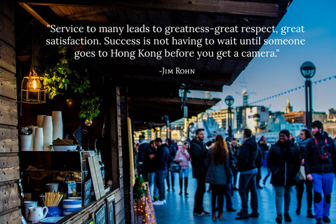 service to many leads to greatness great respect great satisfaction success is not...