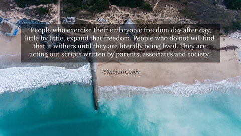 people who exercise their embryonic freedom day after day little by little expand that...