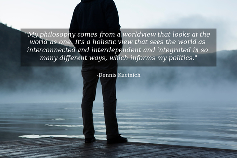 my philosophy comes from a worldview that looks at the world as one its a holistic...