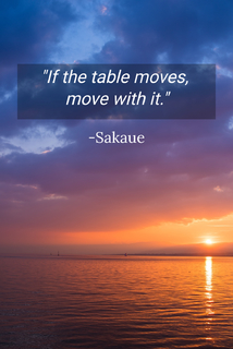 if the table moves move with it...