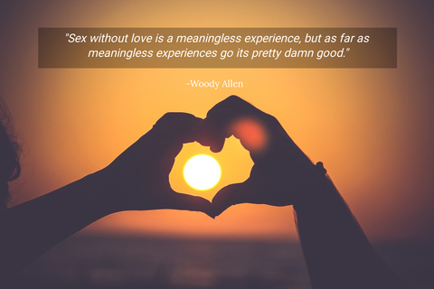 sex without love is a meaningless experience but as far as meaningless experiences go...