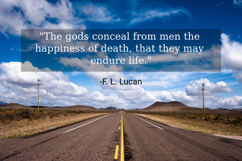 the gods conceal from men the happiness of death that they may endure life...