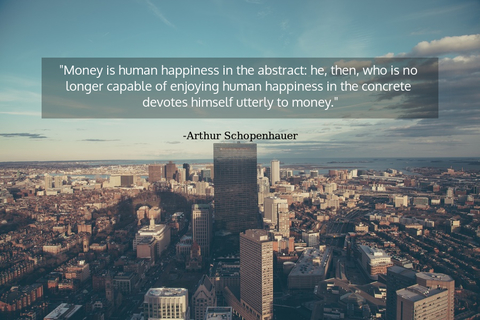 money is human happiness in the abstract he then who is no longer capable of enjoying...