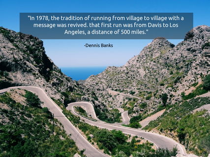 in 1978 the tradition of running from village to village with a message was revived...