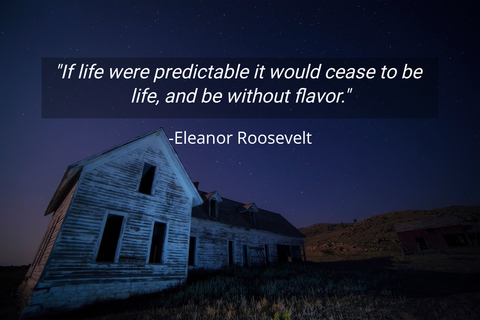 if life were predictable it would cease to be life and be without flavor...