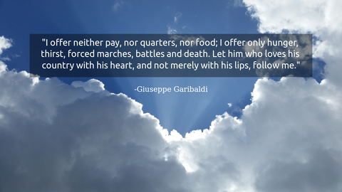 i offer neither pay nor quarters nor food i offer only hunger thirst forced marches...