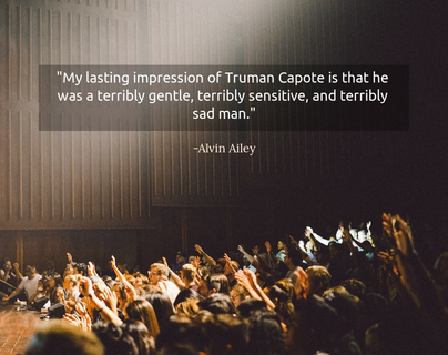 my lasting impression of truman capote is that he was a terribly gentle terribly...