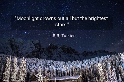 moonlight drowns out all but the brightest stars...
