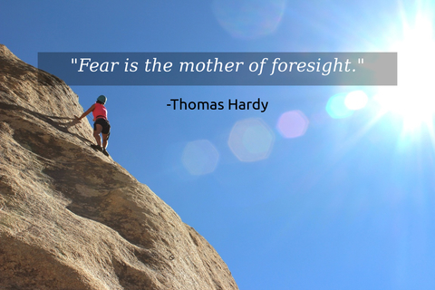 fear is the mother of foresight...