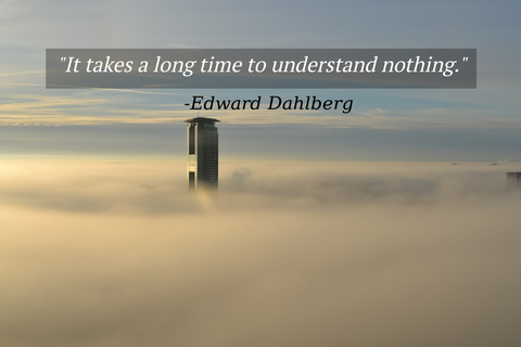 it takes a long time to understand nothing...