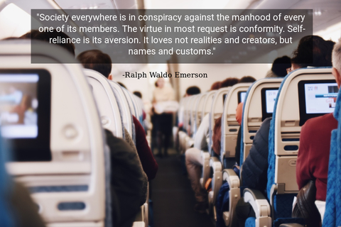 society everywhere is in conspiracy against the manhood of every one of its members the...