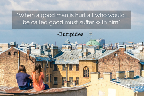 when a good man is hurt all who would be called good must suffer with him...