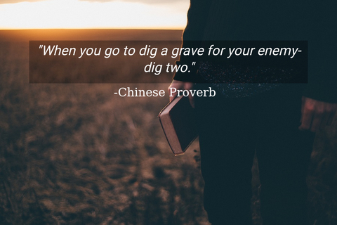 when you go to dig a grave for your enemy dig two...