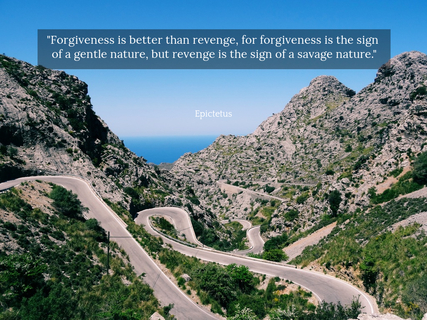 forgiveness is better than revenge for forgiveness is the sign of a gentle nature but...