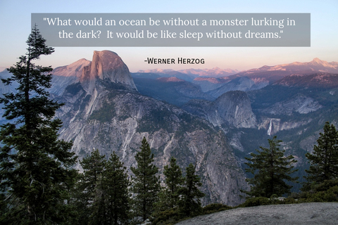 what would an ocean be without a monster lurking in the dark it would be like sleep...