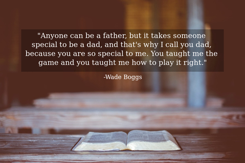 anyone can be a father but it takes someone special to be a dad and thats why i call...