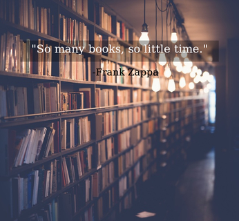 so many books so little time...
