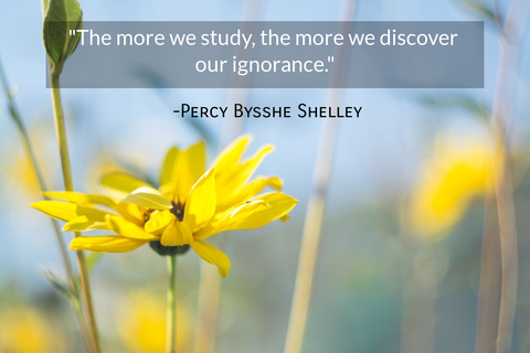 the more we study the more we discover our ignorance...