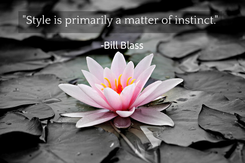 style is primarily a matter of instinct...