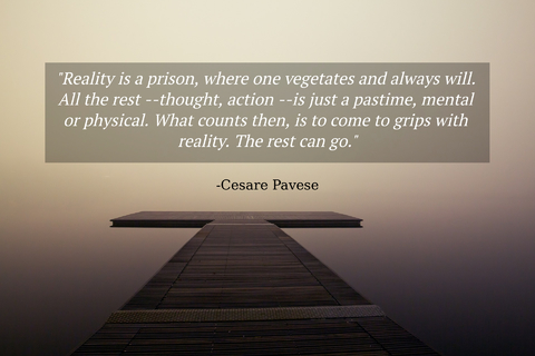 reality is a prison where one vegetates and always will all the rest thought action...